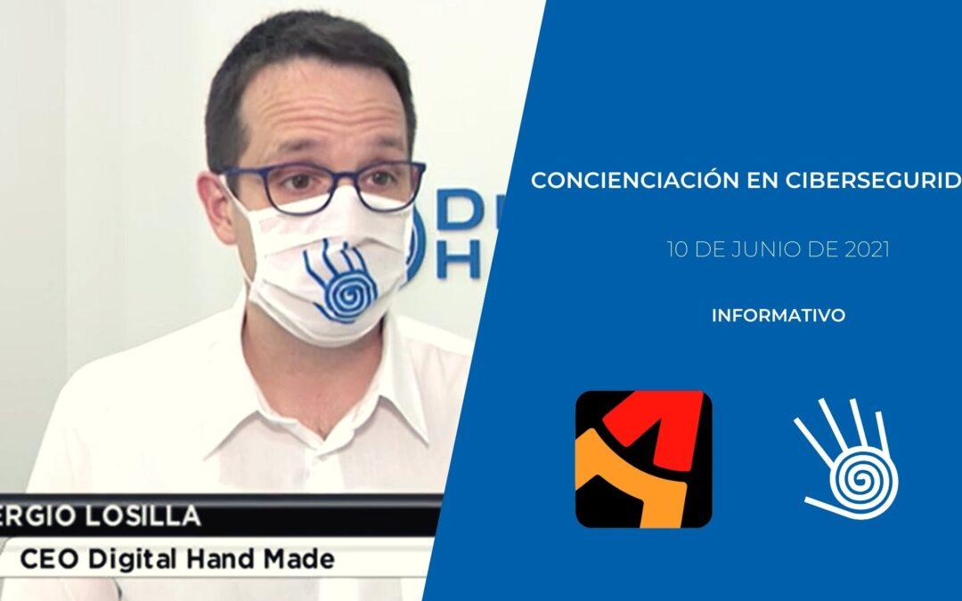 Ciberseguridad y concienciación de Digital Hand Made en Aragón TV